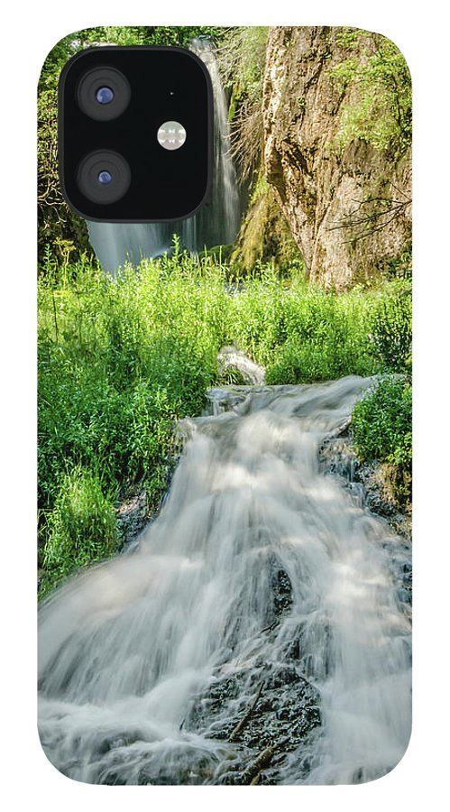 Tranquility IPhone 12 Case featuring the photograph Roughlock Waterfalls In Lead, South by Carl M Christensen