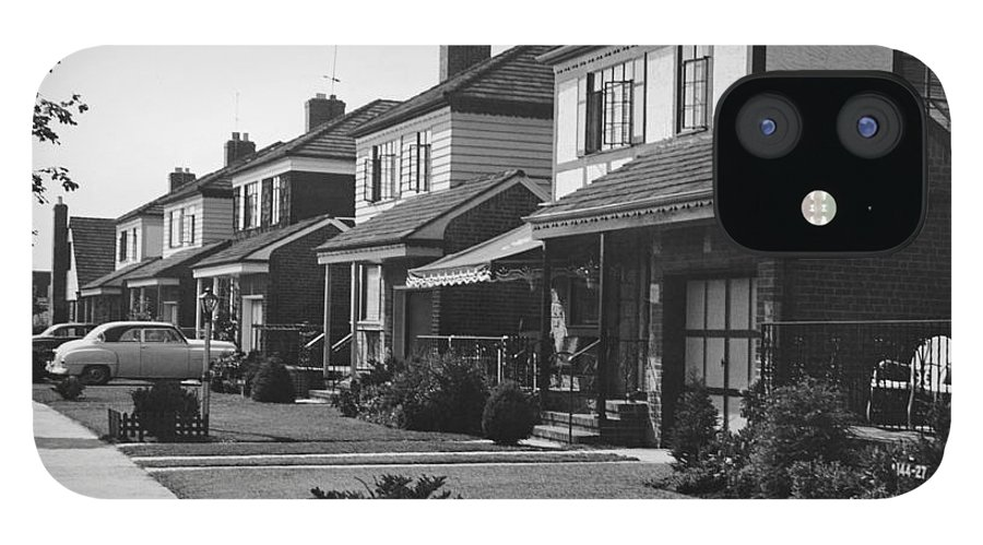 1950-1959 IPhone 12 Case featuring the photograph Row Of Houses by George Marks