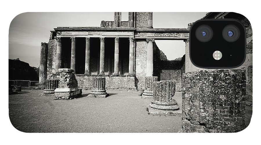 Roman IPhone 12 Case featuring the photograph Ruins Of The Basilica, Pompeii by Flory