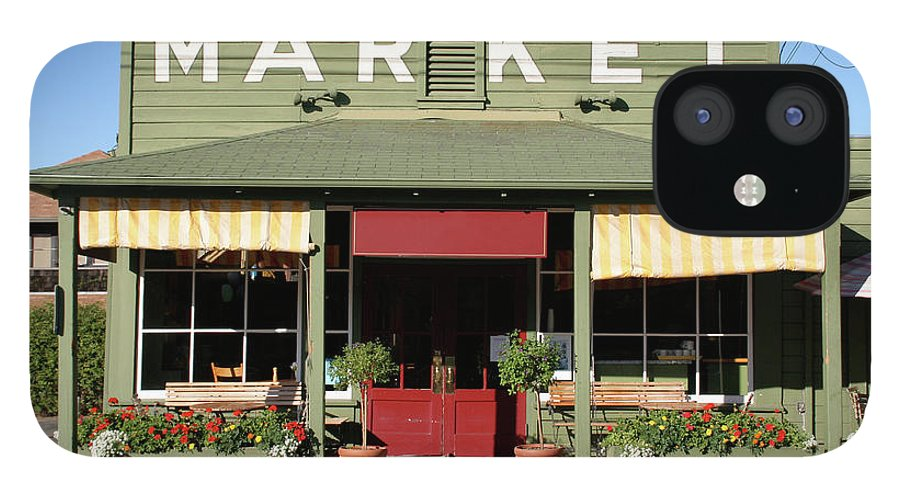 Flowerbed IPhone 12 Case featuring the photograph Rural Store Market Building In Country by Yinyang