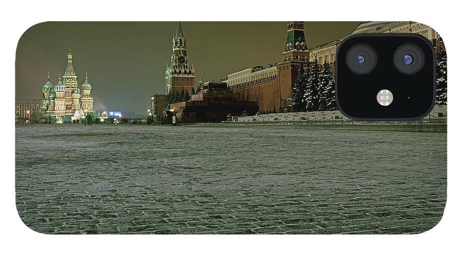 Outdoors IPhone 12 Case featuring the photograph Russia, Moscow, Red Square And Kremlin by Hans Neleman