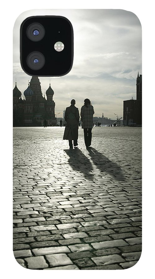 Shadow IPhone 12 Case featuring the photograph Russia, Moscow, Red Square, Silhouette by Will & Deni Mcintyre