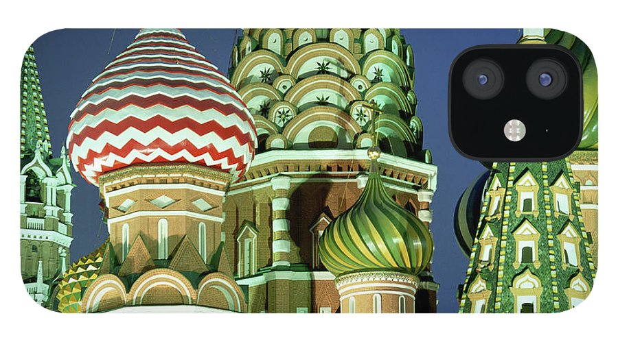 Travel14 iPhone 12 Case featuring the photograph Russia, Moscow, Red Square, St Basils by Peter Adams