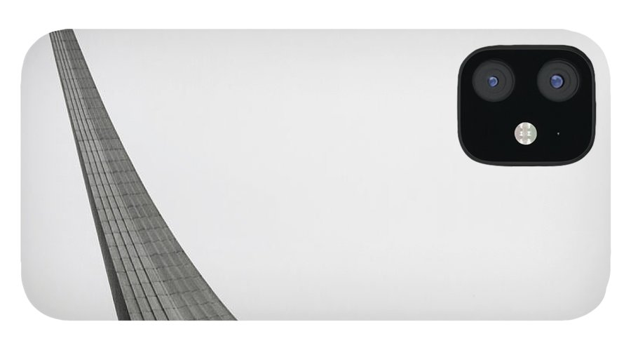 Outdoors iPhone 12 Case featuring the photograph Russia, Moscow Space Monument, Low by Kim Steele