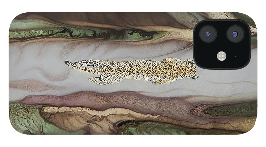 Balam IPhone 12 Case featuring the painting Sac be Balam by Angel Ortiz