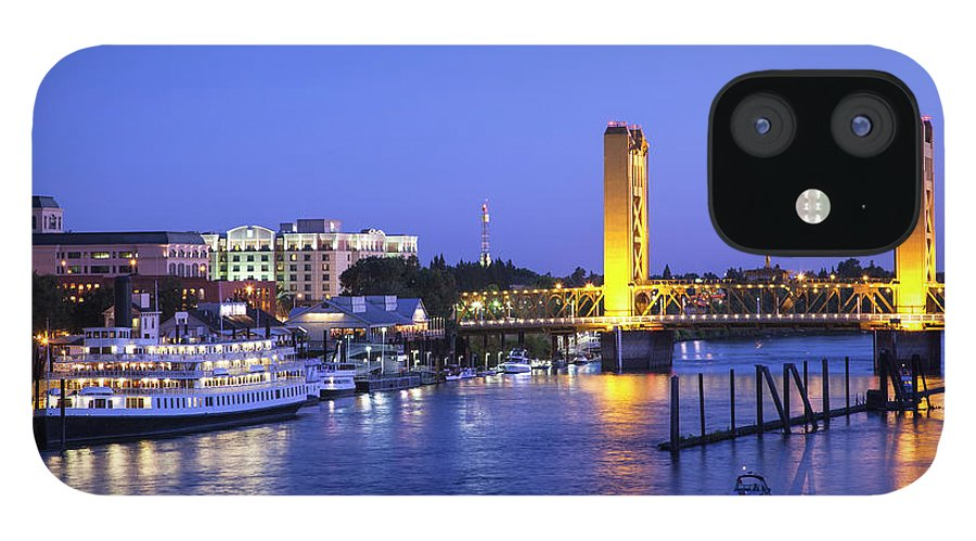 Scenics IPhone 12 Case featuring the photograph Sacramento River And Tower Bridge At by Picturelake