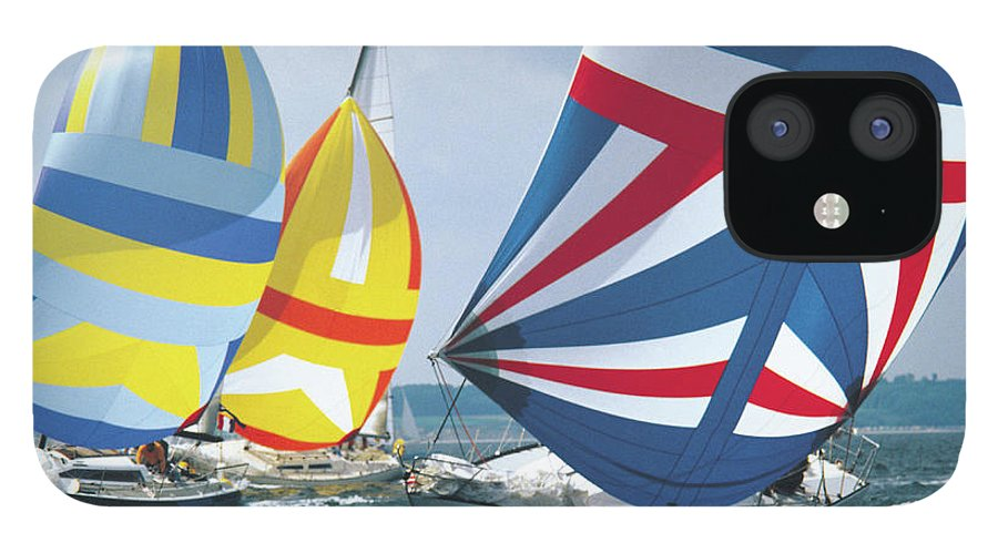 Wind IPhone 12 Case featuring the photograph Sailing Race by John Foxx