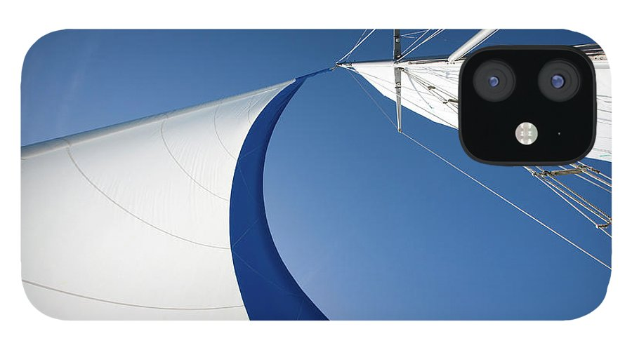 Curve IPhone 12 Case featuring the photograph Sailing by Tammy616
