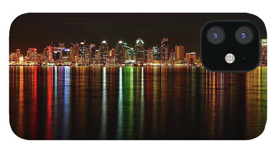 California iPhone 12 Case featuring the photograph San Diego Skyline From Harbor Island by David Toussaint
