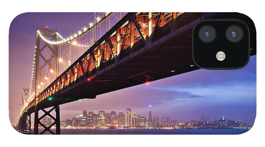 Tranquility IPhone 12 Case featuring the photograph San Francisco Bay Bridge by Photo By Mike Shaw