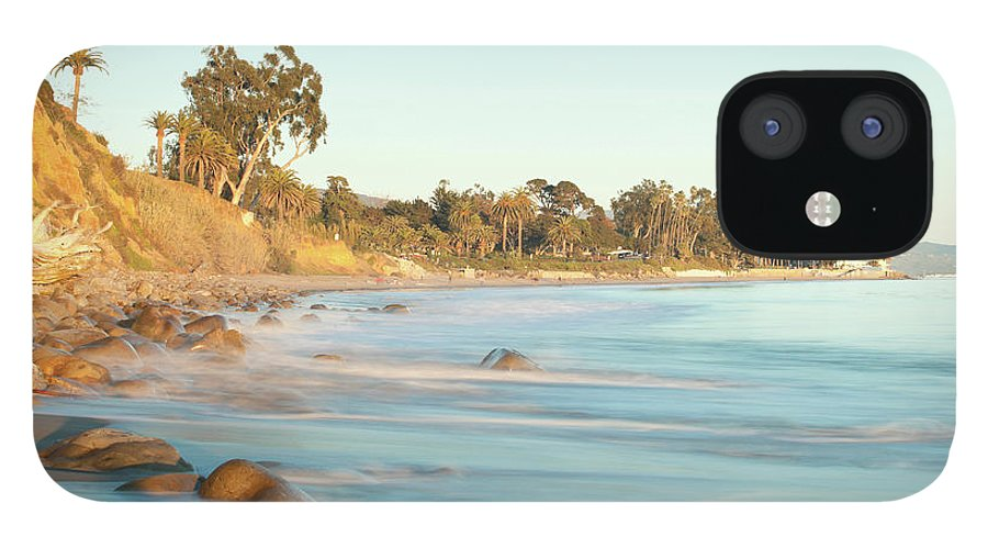 Water's Edge IPhone 12 Case featuring the photograph Santa Barbara by Andrewhelwich