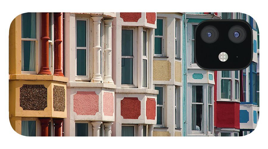Row House IPhone 12 Case featuring the photograph Seafront Houses, Aberdovey, Wales by David Tait