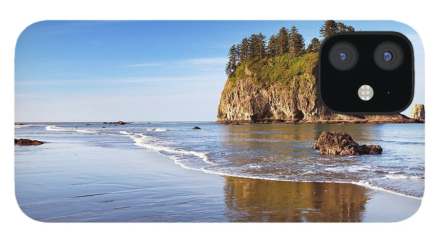 Scenics IPhone 12 Case featuring the photograph Second Beach On The Olympic Peninsula by Sara winter