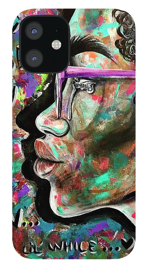 Depressed IPhone 12 Case featuring the painting See yourself when all is new by Artist RiA