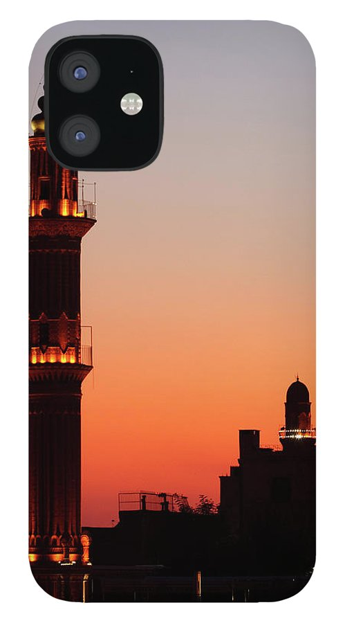 Built Structure IPhone 12 Case featuring the photograph Sehidiye Mosque Minaret by Wu Swee Ong