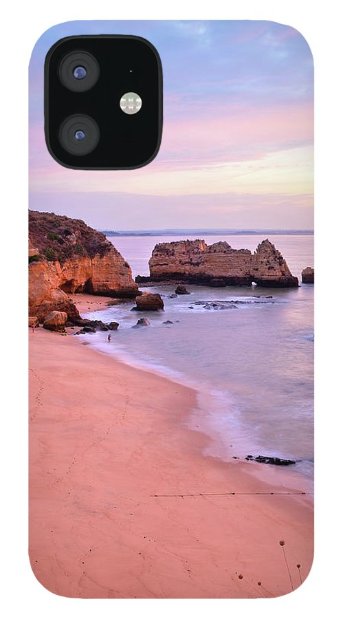 Algarve iPhone 12 Case featuring the photograph Serene Pastel Shores by M Swiet Productions