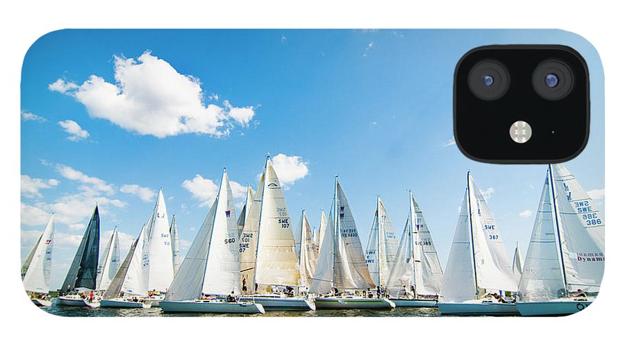 Sailboat IPhone 12 Case featuring the photograph Several Sailboats by Helena Wahlman