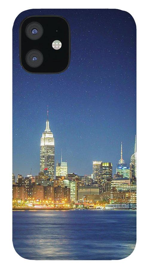 Scenics IPhone 12 Case featuring the photograph Shiny New York by Xavierarnau