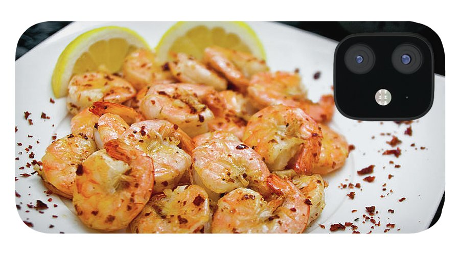 Savory Food IPhone 12 Case featuring the photograph Shrimps With Chili by Wojciech Wisniewski