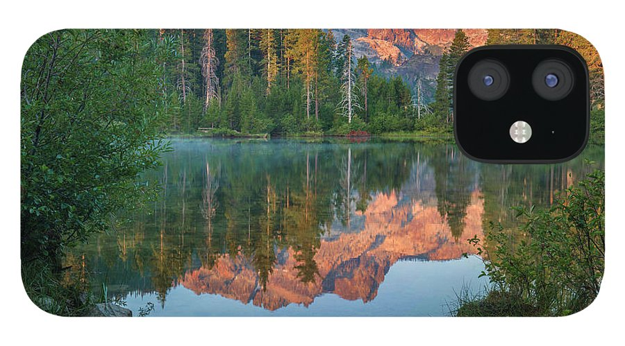 00574849 iPhone 12 Case featuring the photograph Sierra Buttes From Sand Pond, Tahoe National Forest, California by Tim Fitzharris
