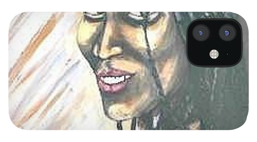 iPhone 12 Case featuring the painting Sister by Andrew Johnson