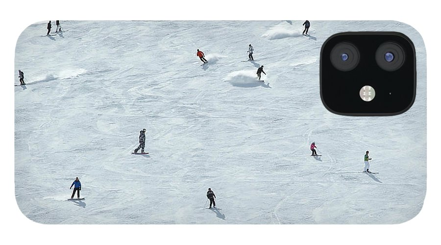 Skiing IPhone 12 Case featuring the photograph Skiing In Mayrhofen Austria by Mike Harrington
