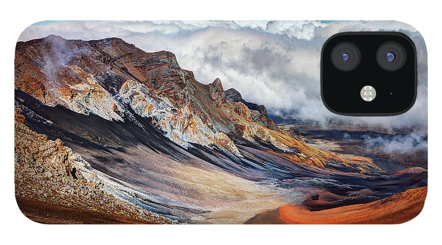 Scenics IPhone 12 Case featuring the photograph Sliding Sands Trail, Haleakala National by Ed Freeman