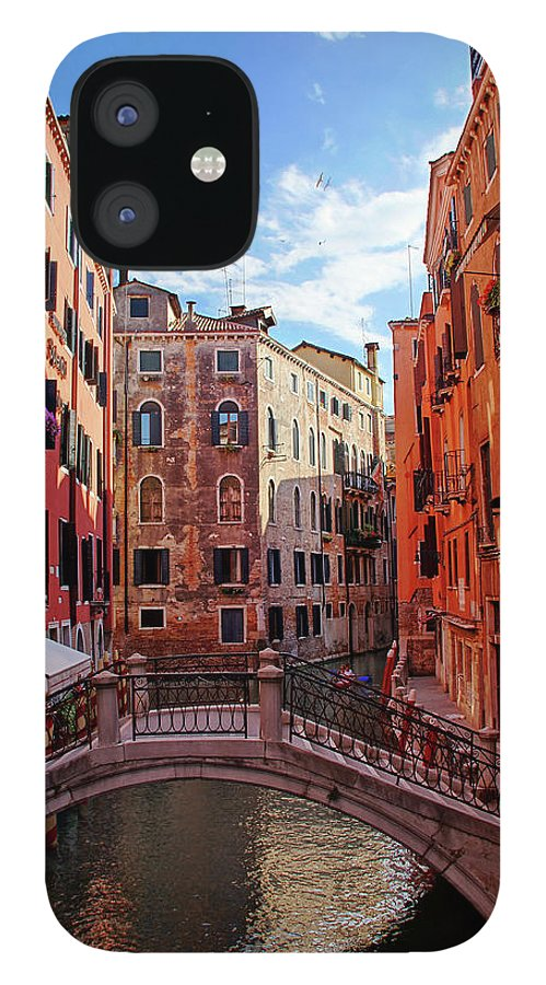 Arch IPhone 12 Case featuring the photograph Small Canals In Venice Italy by Totororo