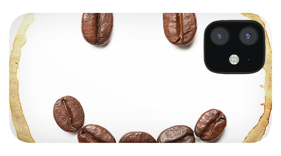 Spray IPhone 12 Case featuring the photograph Smile Coffee Beans by T kimura