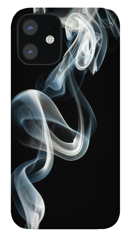 Black Background IPhone 12 Case featuring the photograph Smoke by Vando Nascimento