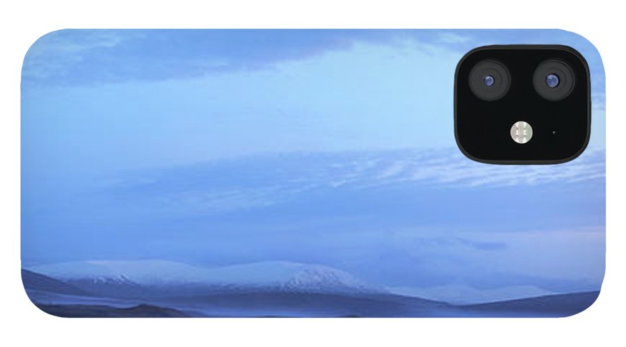 Tranquility IPhone 12 Case featuring the photograph Snow Covered Hills And Mist At Dawn by Jeremy Walker