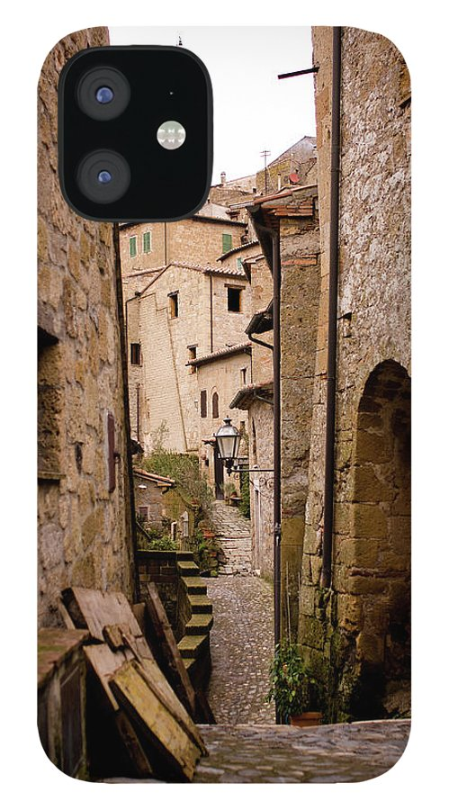 Tranquility IPhone 12 Case featuring the photograph Sorano, Clock Tower by Luca Deravignone