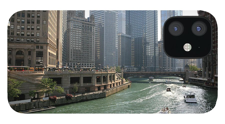Downtown District IPhone 12 Case featuring the photograph Spectacular Chicago Downtown by Ekash