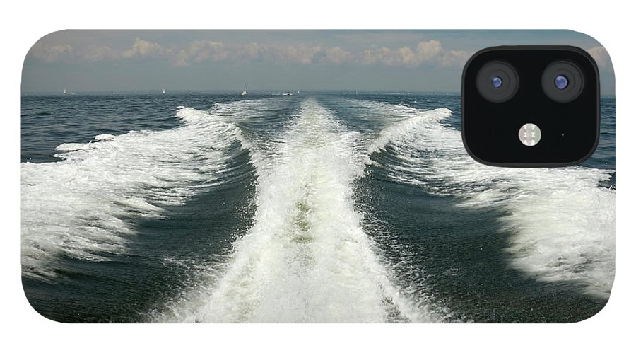 Scenics IPhone 12 Case featuring the photograph Speed Boat Wake by Ishootphotosllc