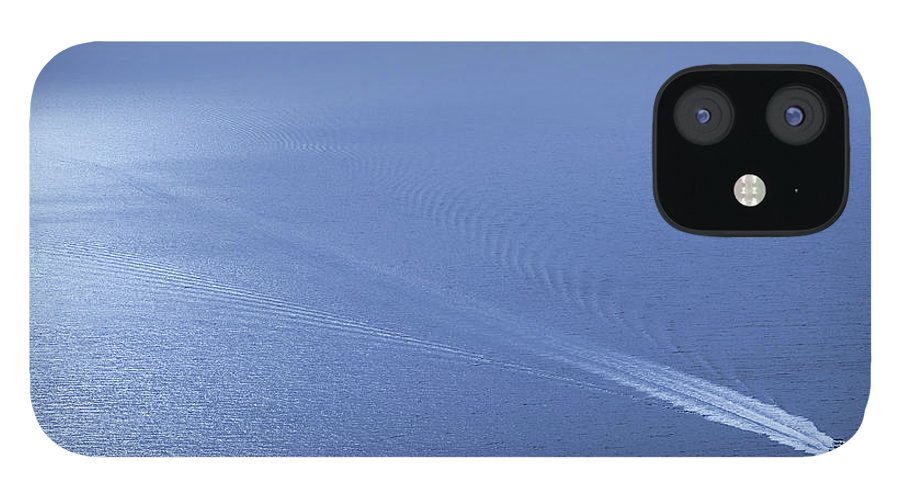 Scenics IPhone 12 Case featuring the photograph Speedboat On The Sea by Nikada