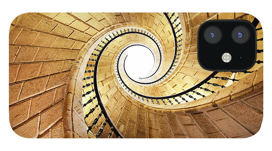 Steps IPhone 12 Case featuring the photograph Spiral Staircase by Orbon Alija