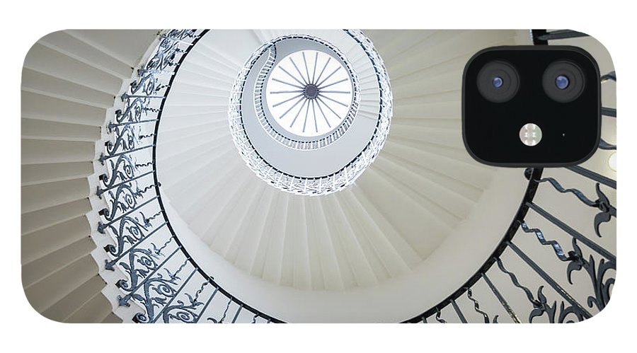 Queen's House IPhone 12 Case featuring the photograph Spiral Staircase, The Queens House by Peter Adams
