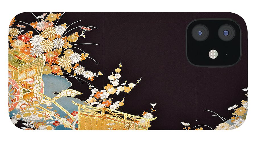 IPhone 12 Case featuring the digital art Spirit of Japan T14 by Miho Kanamori