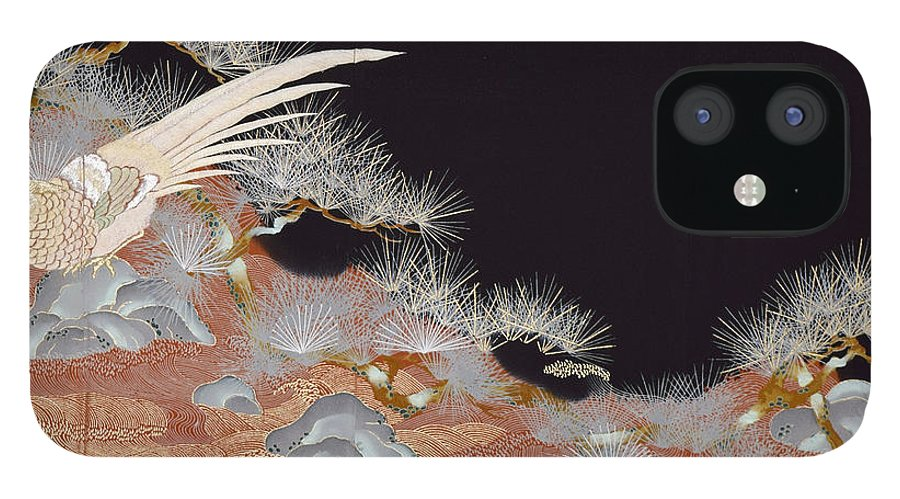 IPhone 12 Case featuring the digital art Spirit of Japan T17 by Miho Kanamori