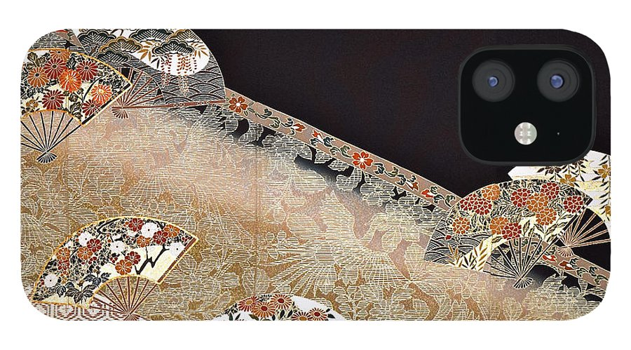IPhone 12 Case featuring the digital art Spirit of Japan T39 by Miho Kanamori