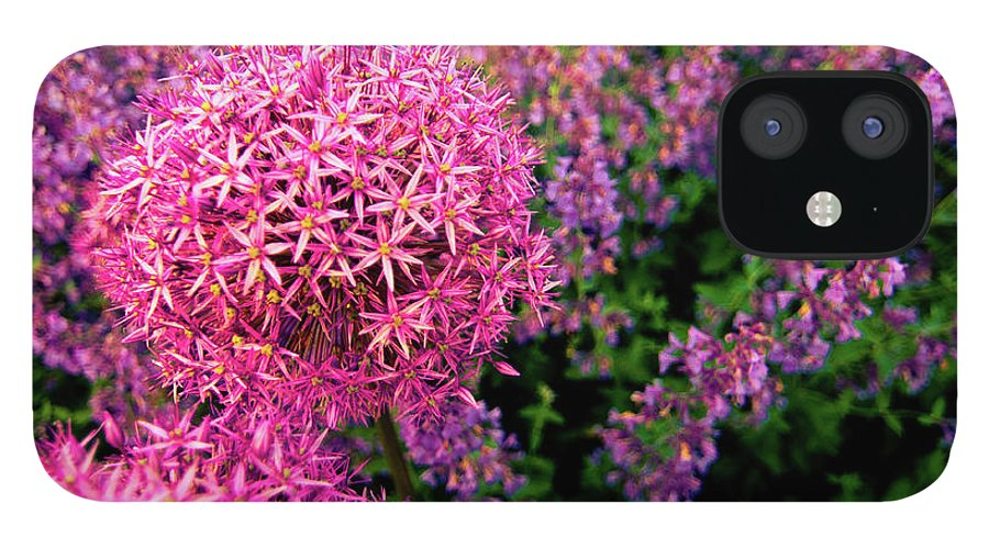 Purple IPhone 12 Case featuring the photograph Spring Flowers In Garden by Flash Parker