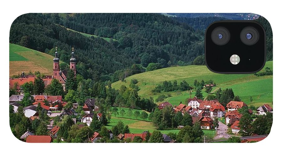 Architectural Feature IPhone 12 Case featuring the photograph St. Peters Abbey, Black Forest, Germany by Bilderbuch  / Design Pics