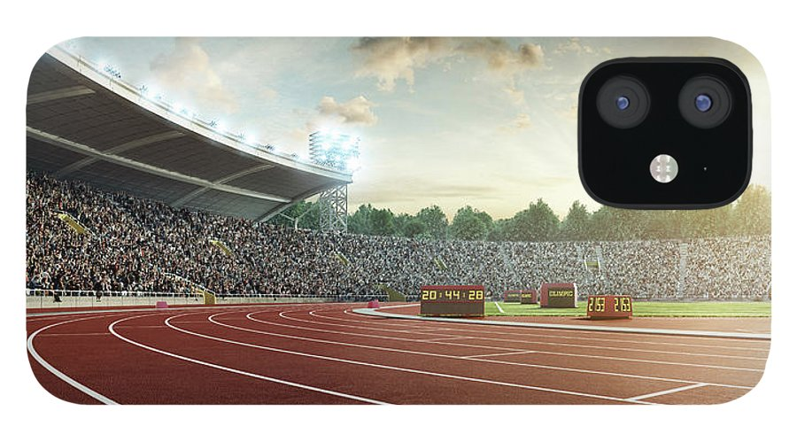 Event IPhone 12 Case featuring the photograph Stadium With Running Tracks by Dmytro Aksonov