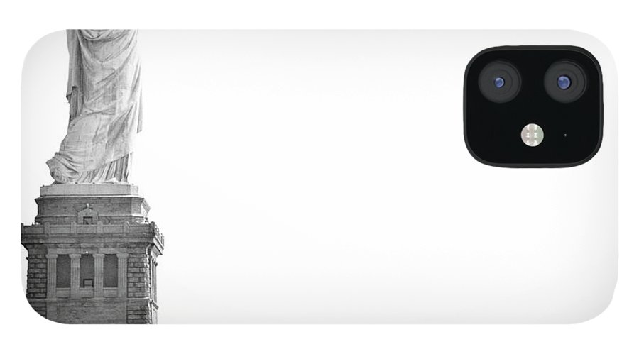 Statue IPhone 12 Case featuring the photograph Statue Of Liberty by Image - Natasha Maiolo