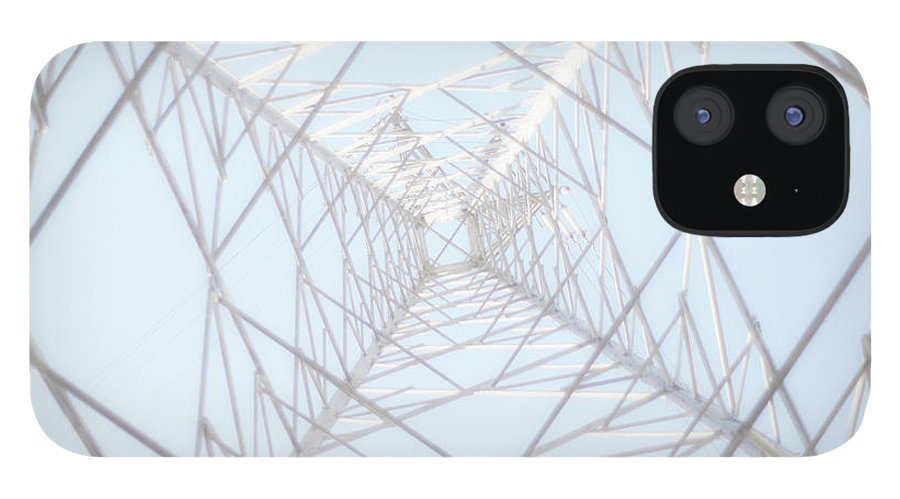 Radial Symmetry IPhone 12 Case featuring the photograph Steel Tower by Kaneko Ryo