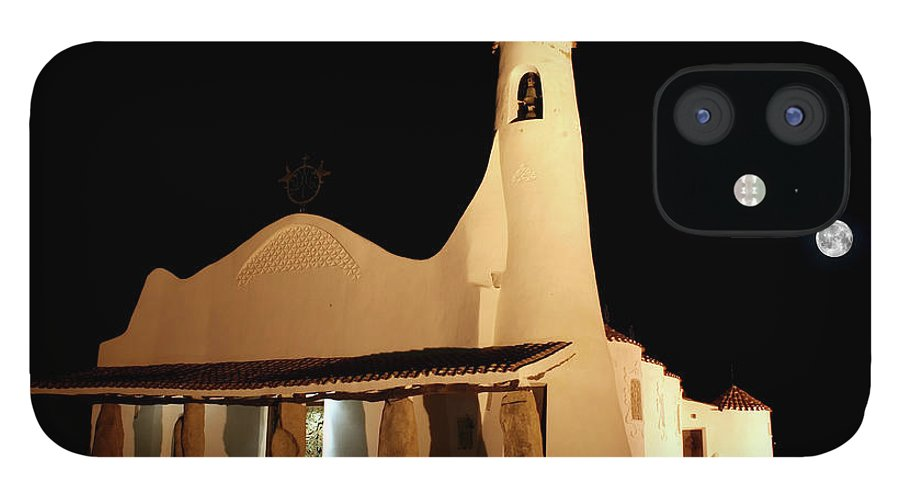 Art And Craft Product IPhone 12 Case featuring the photograph Stella Maris Church In Porto Cervo With by Photovideostock