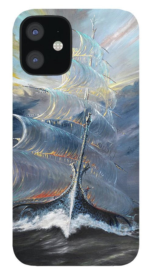 At Sea IPhone 12 Case featuring the painting Storm Creators Beaufort Sea by Vincent Alexander Booth
