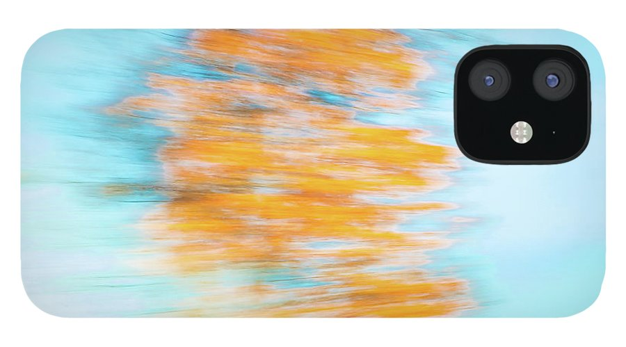 Abstracts iPhone 12 Case featuring the photograph Streaming Gold by Marilyn Cornwell