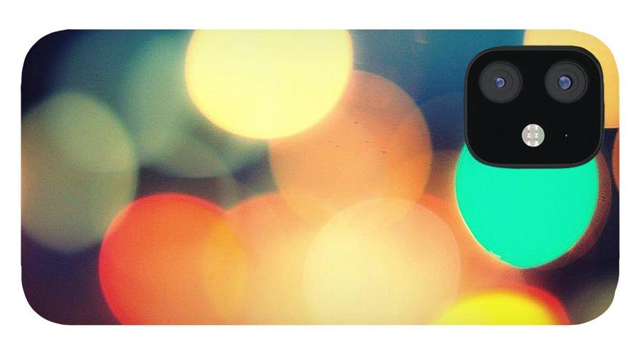 Car Interior IPhone 12 Case featuring the photograph Streetlight Candy by Espen Løken