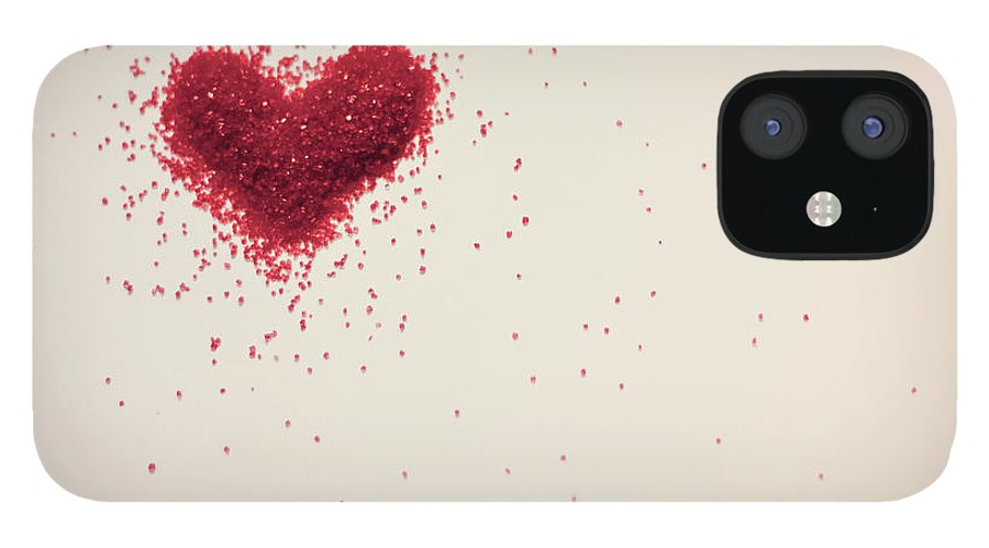 Art iPhone 12 Case featuring the photograph Sugar Heart by Amy Weekley